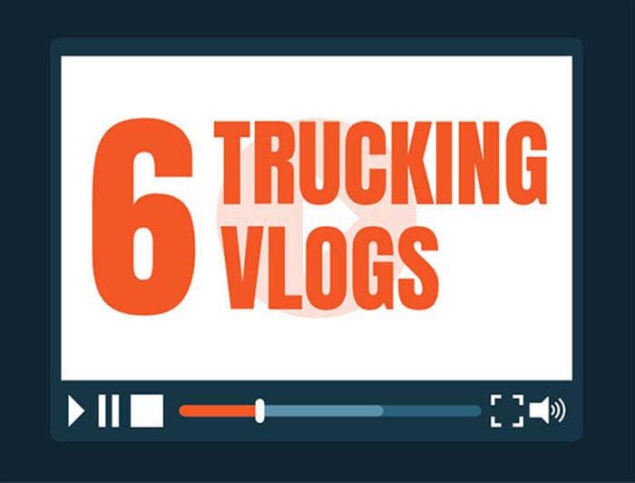 Trucking vlogs video screen.