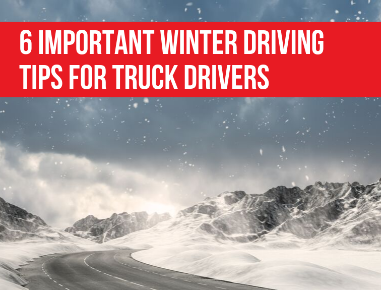 Winter Road with 6 Winter Truck Driving Tips Graphic